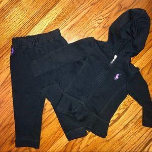 Ralph Lauren 25 Month Black Sweatsuit